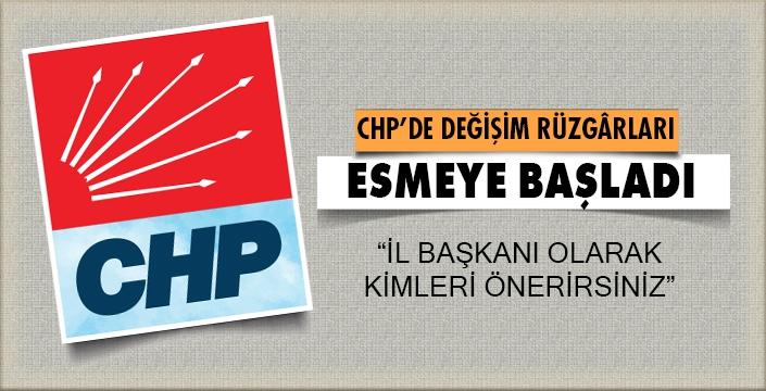 CHP'de DEĞİŞİM RÜZGÂRLARI